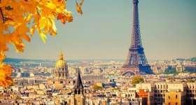 parijs eiffeltoren herfst