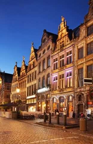 Kerstsfeer in Antwerpen. België