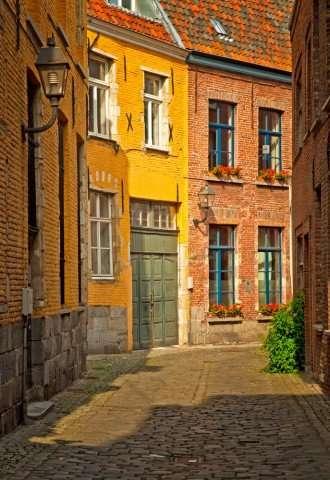 Steegje in Brugge, België