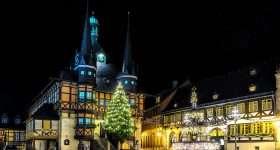 Duitsland Wernigerode plein kerstsfeer