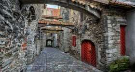 Estland Tallinn oud straatje
