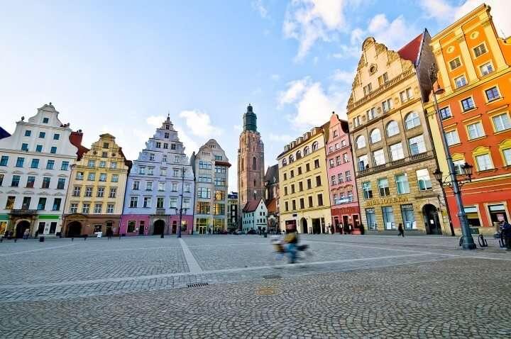 Polen Wroclaw markt