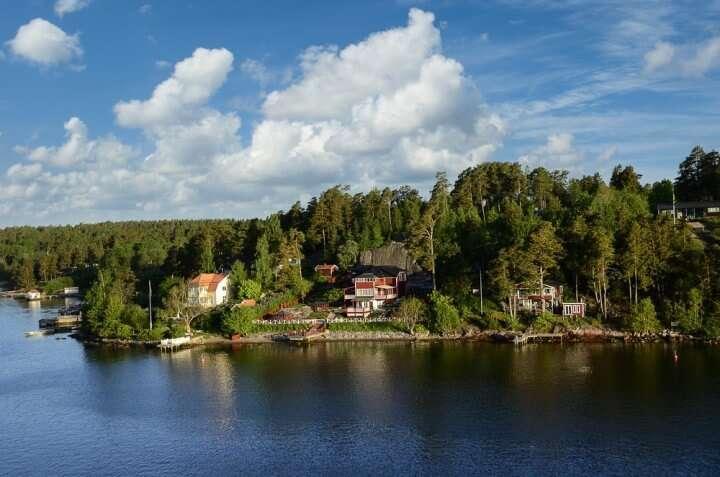 Zweden Stockholm huisjes aan kust