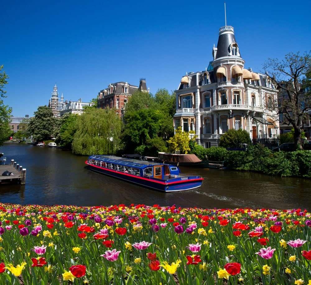Nederland Amsterdam rondvaartboot