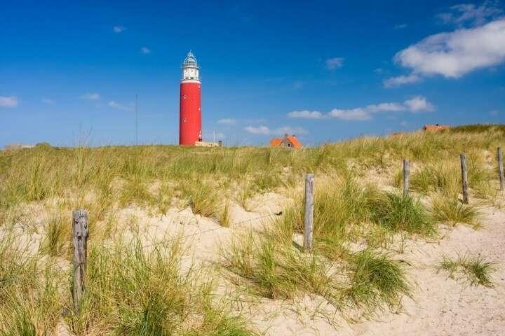 Nederland Texel duinen en vuurtoren