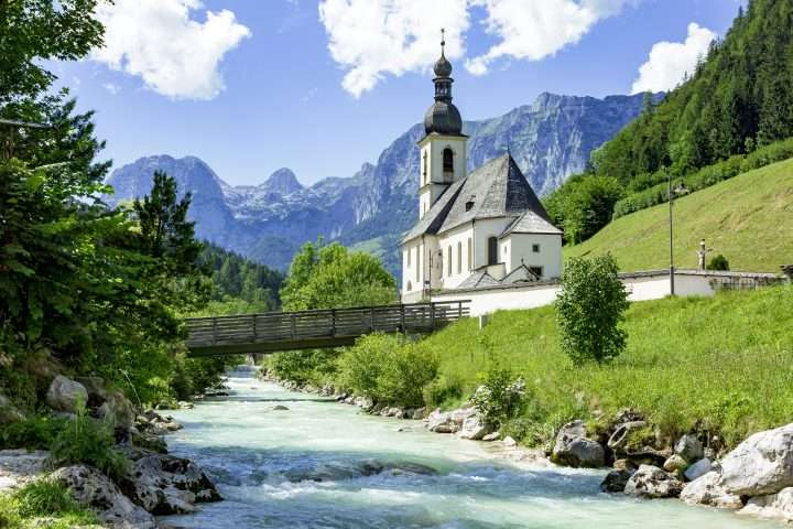 Church of Ramsau in Bavaria
