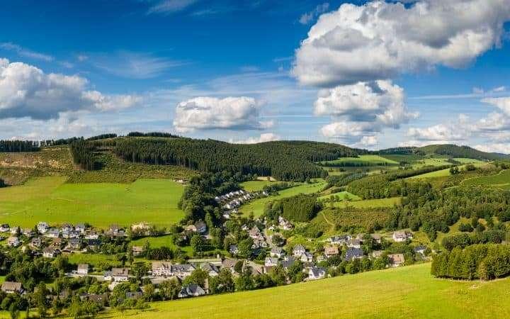 Duitsland Sauerland panoramma