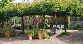 Nederland Appeltern tuin met zitje pergola scaled